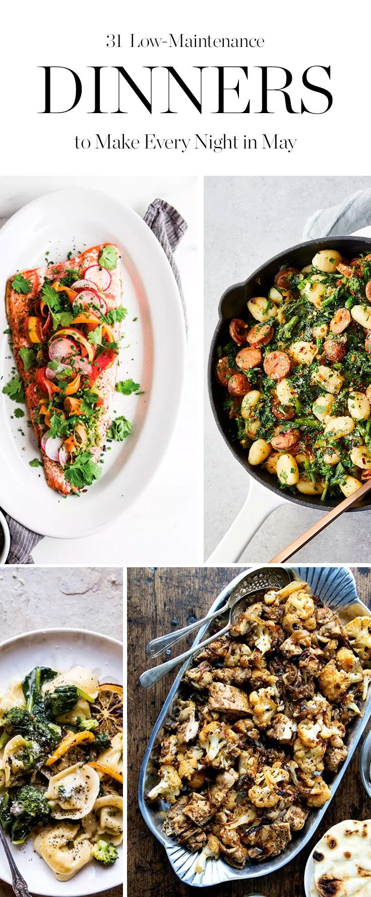You'll be so busy having fun outside, you definitely won't have time to think up a meal plan. So we've done the work for you. Here are 31 seasonal dinners to try.