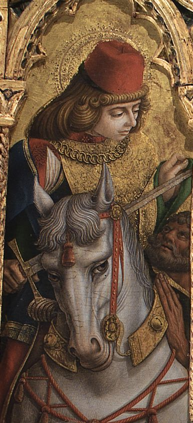 Polyptych by Carlo and Vittore Crivelli: Saint Martin of Tours - Monte San Martino - Marche, Italy