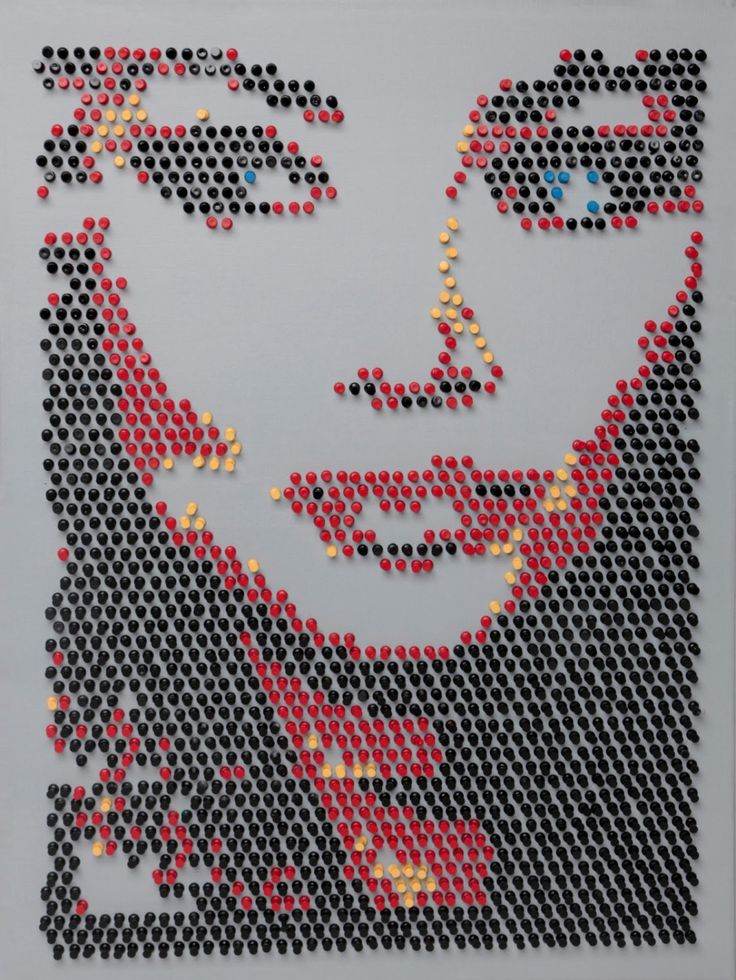 Push Pin art by TribeOne on Etsy