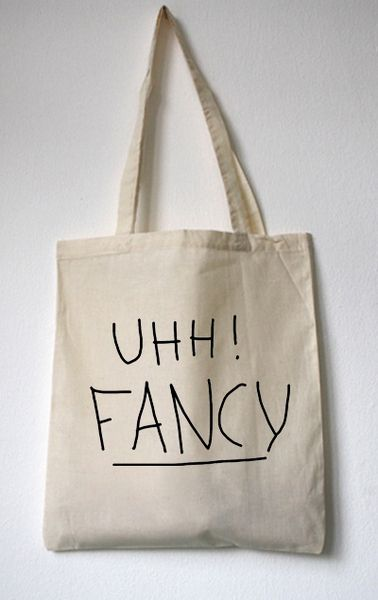 "Jutebeutel // Totebag ""UHH! FANCY"" by WALKTHEDAWG via DaWanda.com"