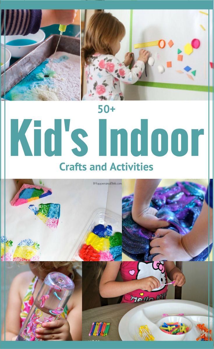 50 Indoor Kid's Crafts and Activities