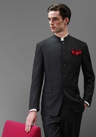 Nehru Mens Black Jacket