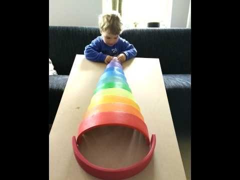 ballenbaan van de houten regenboog