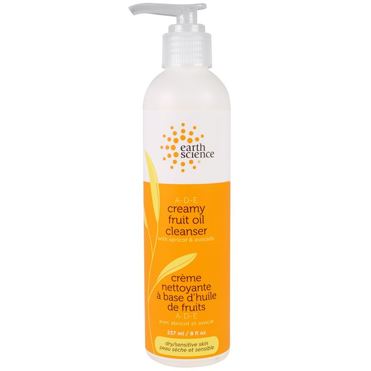 Earth Science, A-D-E Creamy Fruit Oil Cleanser, Dry/Sensitive Skin