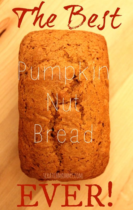 The BEST Pumpkin Nut Bread EVAH! Really, it's so soft and yummy. Love it!