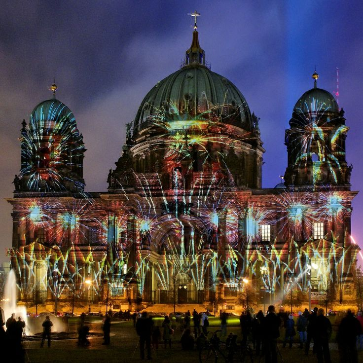 light festival images | Berliner Dom - Berlin Festival of Lights 2008 - Berlin light