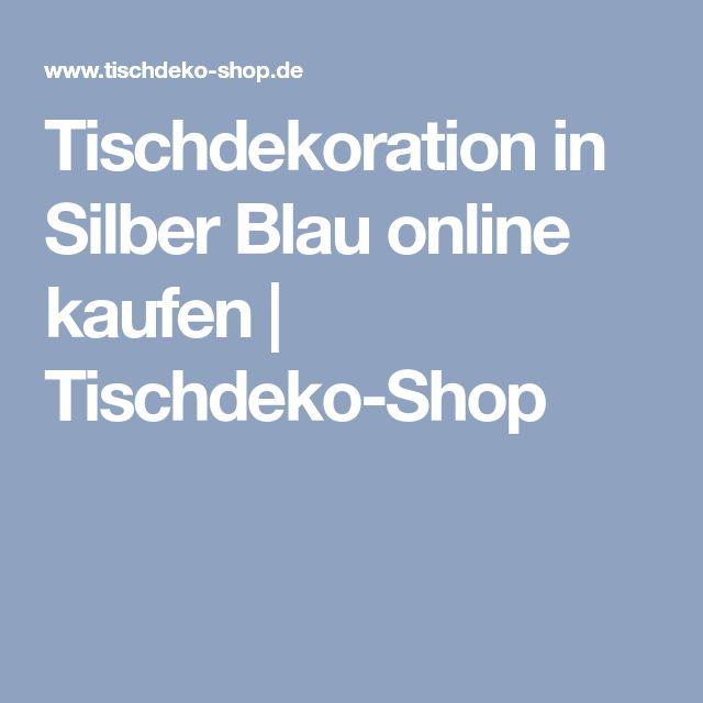 Tischdekoration in Silber Blau online kaufen | Tischdeko-Shop