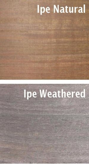 Weathered Ipe wood surround for spa