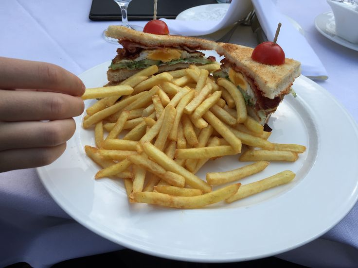Fries and Sandwich.