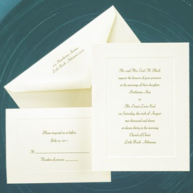 86 best classic traditional wedding invitations images on classic ecru embossed border medium classic and affordable ecru invitation folder with a single stopboris Choice Image