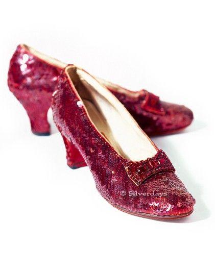 Souliers de rubis du magicien d'Oz Fine Art photo 8 x 10 Film rouge Prop chaussure Vintage