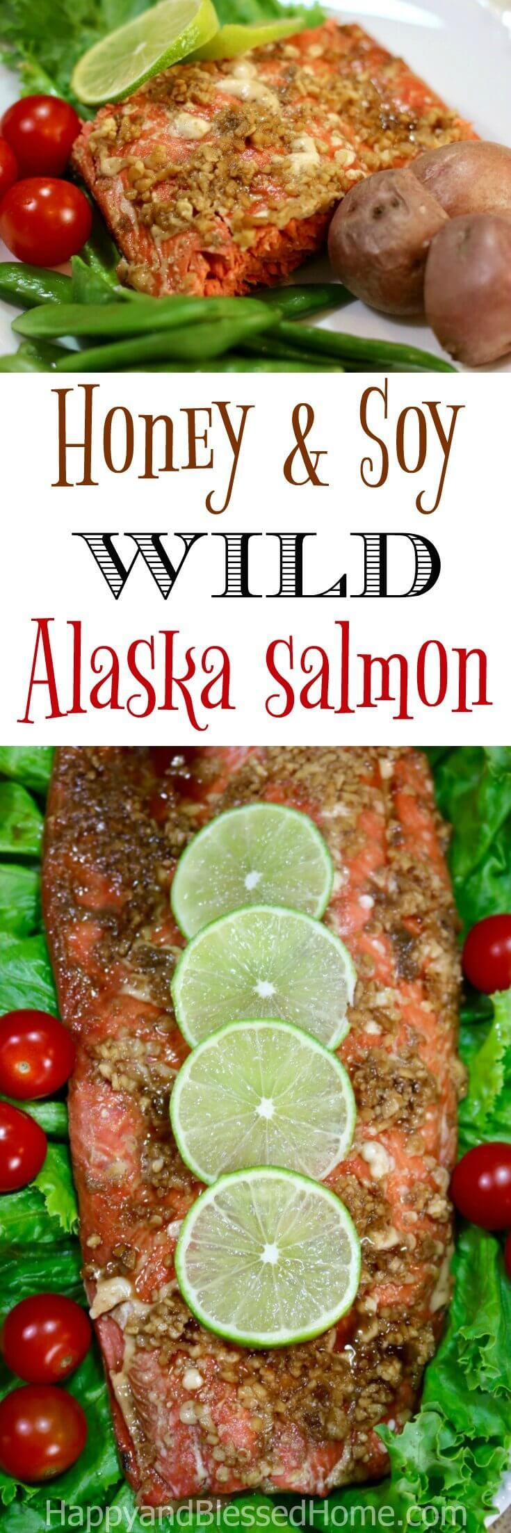Easy Recipe for Honey and Soy wild Alaska salmon - Sometimes you want sweet, and sometimes you want savory. And other times… well, you want a little bit of both. Guess what, with this easy recipe for Honey and Soy wild Alaska Salmon you get the sweet taste of honey and the savory flavors of soy and garlic. The aroma is amazing and the entire family will be excited over the Sockeye salmon baking in the oven. #ad #IC #AskForAlaska