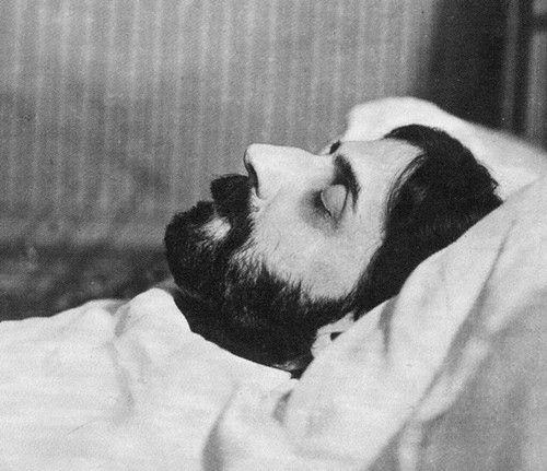 photo of marcel proust two days after his death in 1922 taken by man ray