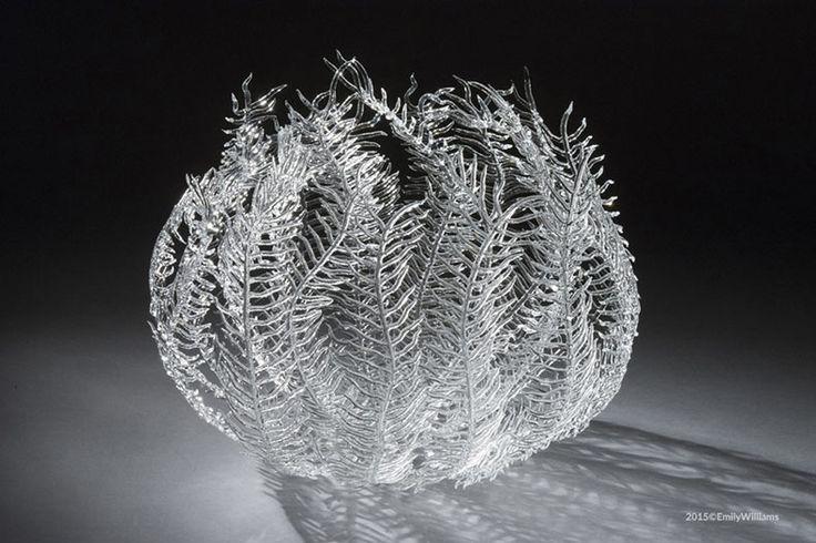 Delicadas esculturas de vidrio de la vida marítima de Emily Williams