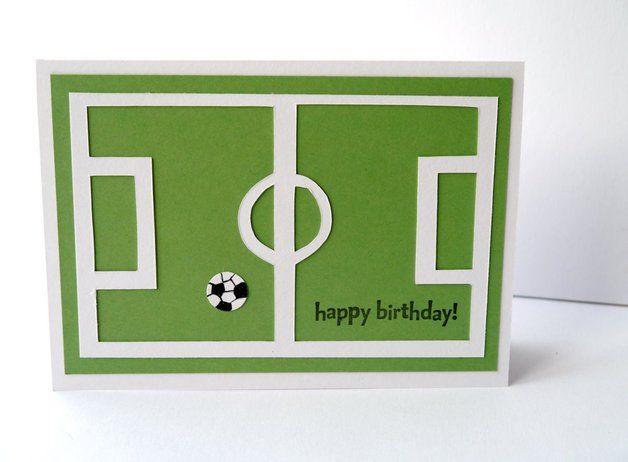 Geburtstagskarte f r fu ball fans fu ball party for Karten gestalten kostenlos