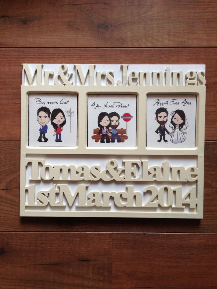 Mrs and Mrs wedding memento frame. Personalised. Wedding day gift. Bride and groom keepsake.