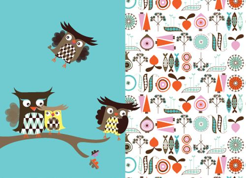 Isak wallpaper by Sandra Isaksson #walltreatment #birds