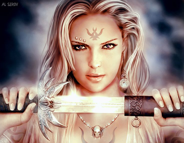 """""""Don't mess with a warrior princess."""" Kane warned, a small smirk hovering around his lips as he glanced at his little sister. (B3: Break of the Storm) ~Wendy Hamlet (It's in Your Eyes by Al Serov)"""