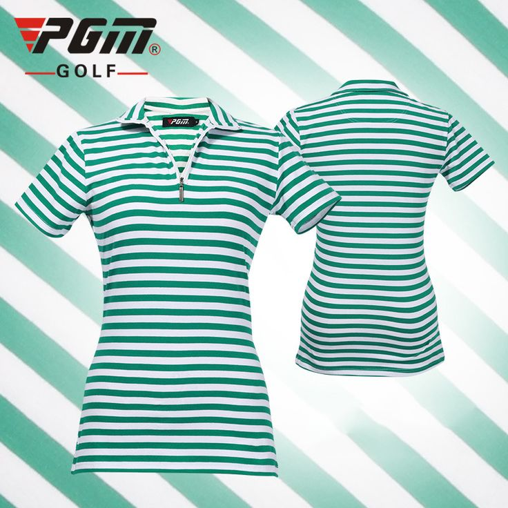 Golf women clothing golf shirts high quality stripe polo shirt quick dry short golf ladie shirt chemises de golf pour les femmes