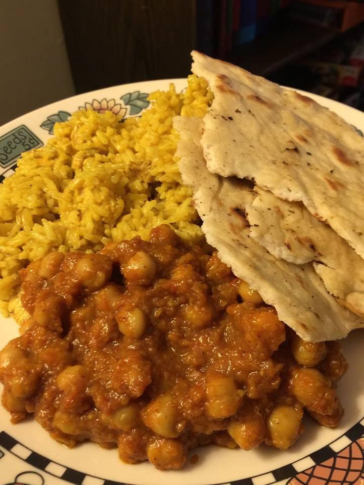 Chicken Biryani and Chana Masala