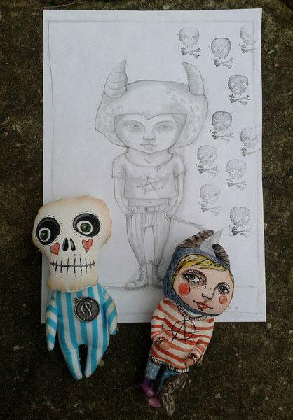 2 Freunde und ein Bild... von Galerie MIZUMI auf DaWanda.com