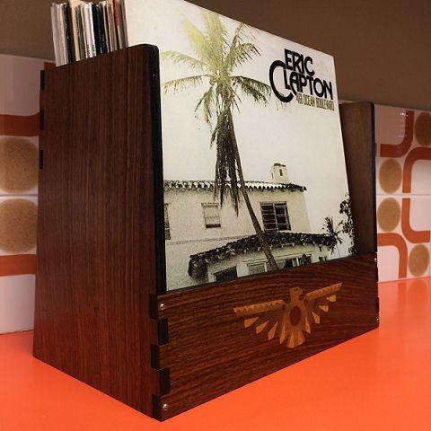 WahWah Man LP Vinyl Storage  Display Crate product information page