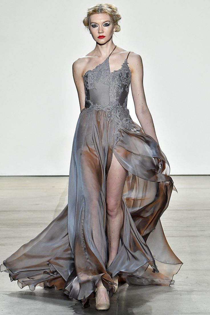 Leanne Marshall Fall/Winter 2017 (Photo by Victor VIRGILE/Gamma-Rapho via Getty Images) via @AOL_Lifestyle Read more: https://www.aol.com/article/lifestyle/2017/02/20/prettiest-dresses-new-york-fashion-week-fall-2017/21717418/?a_dgi=aolshare_pinterest#fullscreen