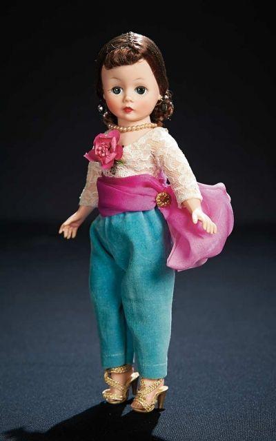 Inspiration! The Robert Tonner Collection: 285 Cissette, Nape Chignon, Aqua Pants, Fantastic Pink Sash, Original Box, Madame Alexander