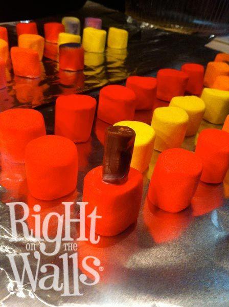 DIY Easy Marshmallow Nail Polish Party Treats Instructions