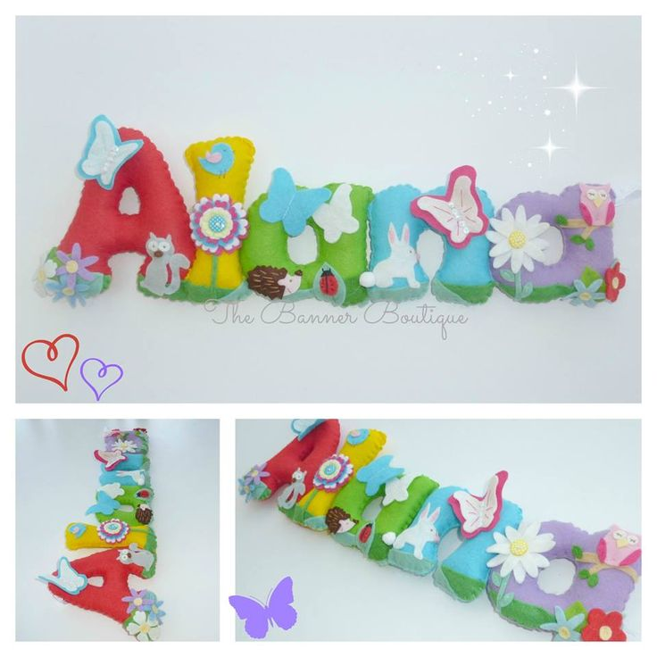 Felt name banner / garland / chain by The Banner Boutique