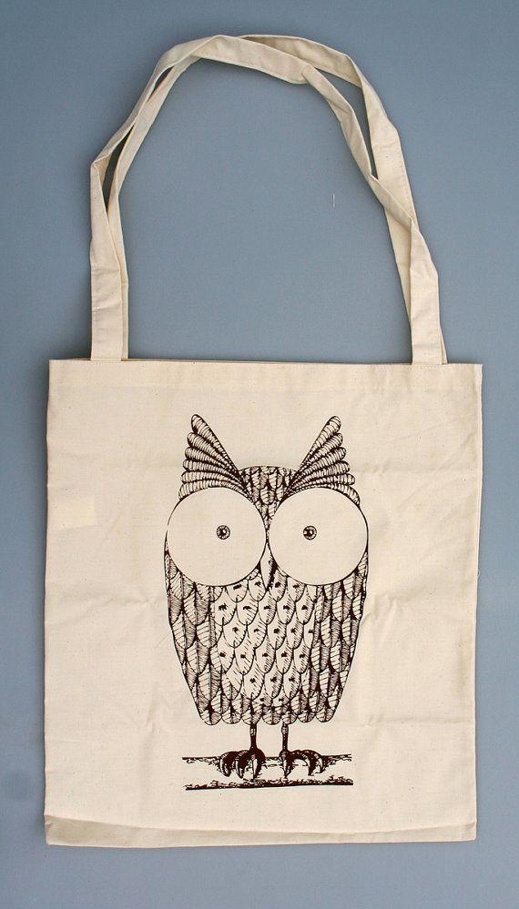 Cute Owl-Jutetasche