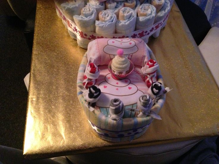 Basinet made of all baby clothing and accessories