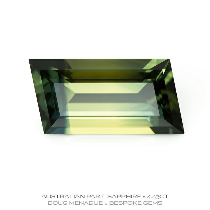 A beautiful and uniquely coloured 4.43ct parti sapphire from the Australian gemfields in Central Queensland. Visit my WHAT'S NEW page for more details.     DOUG MENADUE   WWW.BESPOKE-GEMS.COM