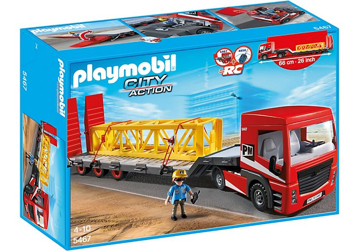 Tracteur routier avec grande remorque - PLAYMOBIL® France