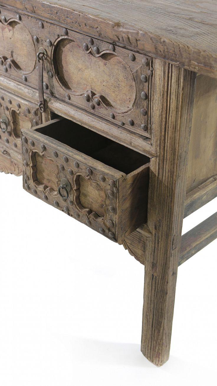 Антикварный комод с тремя выдвижными ящиками, ручная роспись, лимитированная…