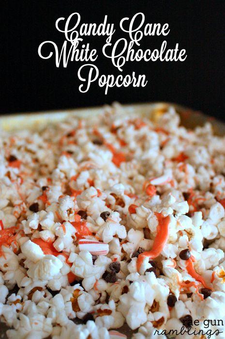 Candy Cane White Chocolate Popcorn Recipe - Rae Gun Ramblings