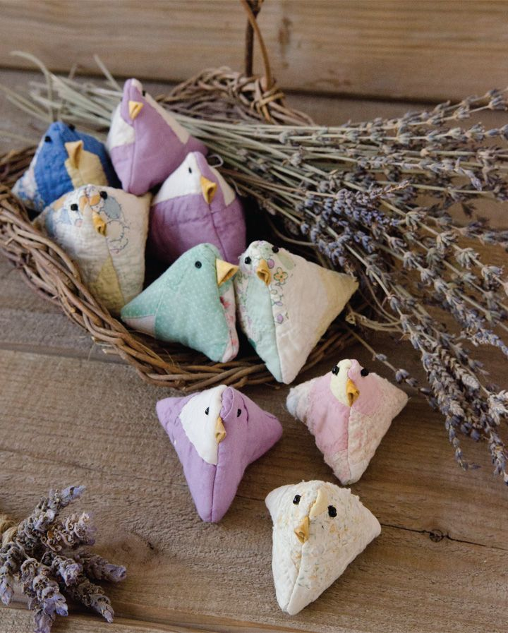 "Upcycle an old quilt into lavender sachets that are ""for the birds"" with Ann Pansoy's tutorial inside GreenCraft Magazine."