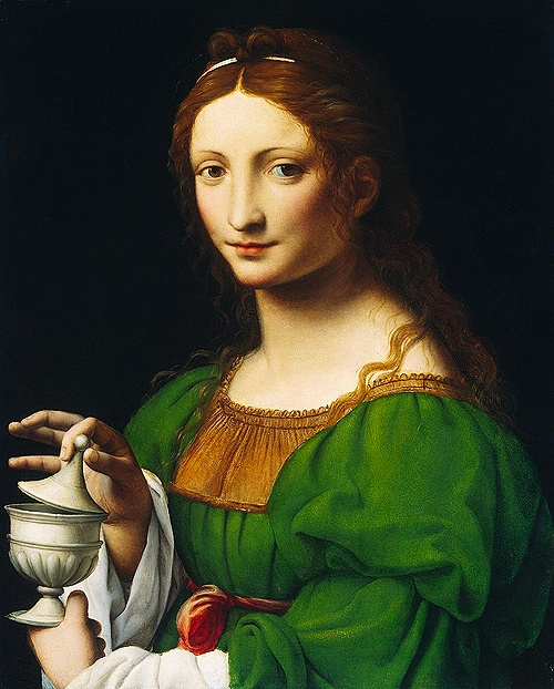 Bernardino Luini. c.1525. Mary Magdalene - http://universal-wellness.blogspot.com/2015/02/baring-my-soul-and-planting-dream.html