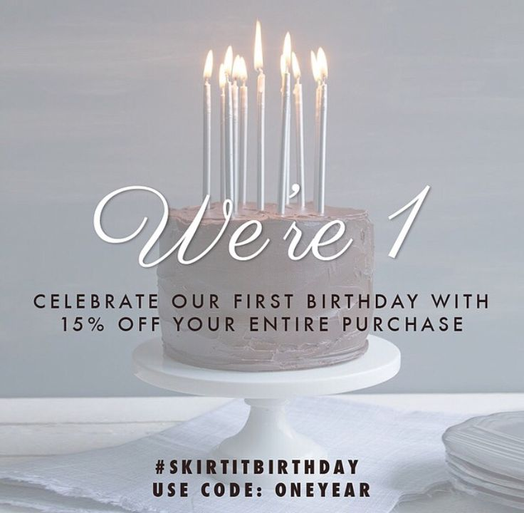 To our friends, families, online customers and stores across North America, thank you. We are here because of amazing people like you, and we vow to continue delivering the best skirts, surprises and more! Happy 1st Birthday #SKIRTIT!