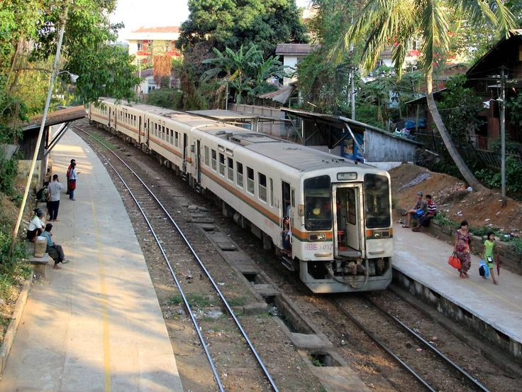 The Yangon Circle Line offers a three-hour, 50-kilometer ride around Yangon, Myanmar, for under a dollar. Shan Road (shown here) is one of 38 stations on the route. Pa Ywet Seik Kone Station is just two kilometers east of Yangon International Airport.