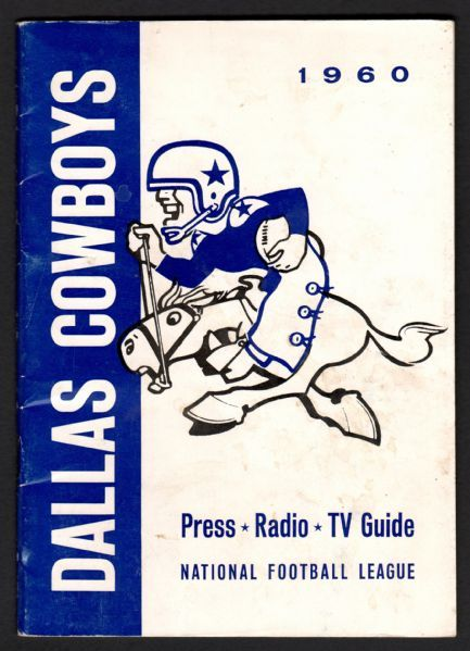 Calling all Cowboys fans...up for auction is a 1960 Dallas Cowboys NFL Press Radio TV Guide