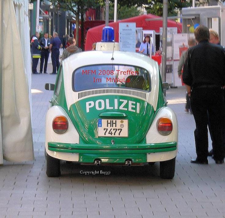 Polizei Käfer in der Großstadt