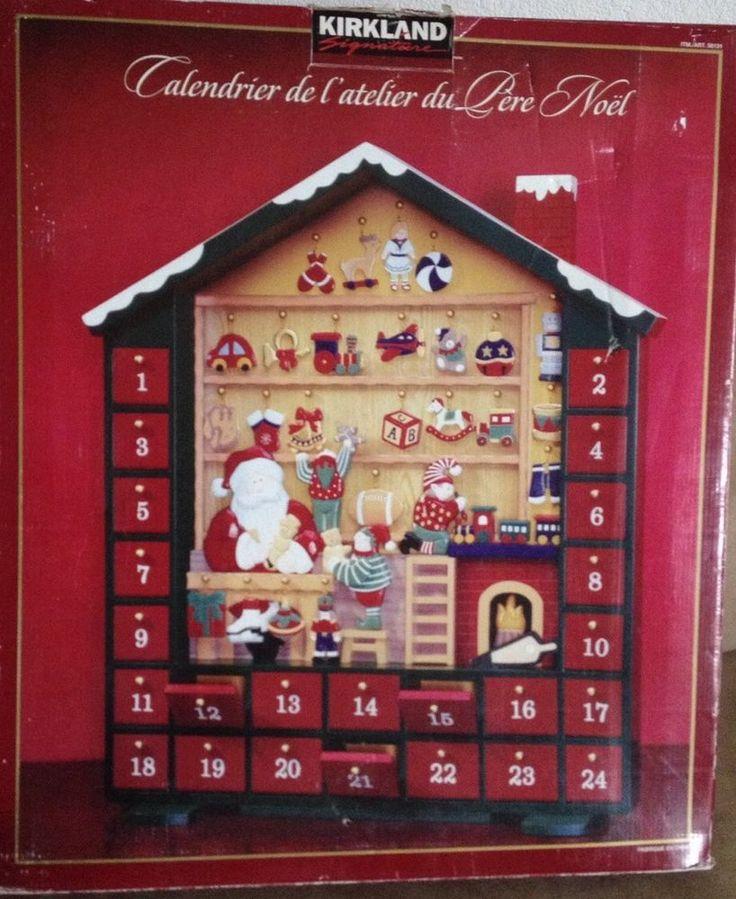 Rare Kirkland Signature Santa S Workshop Wooden Advent