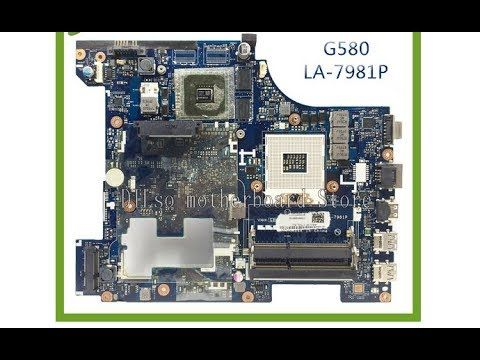 Распаковка материнской платы для ноутбука Lenovo G580 и ее замена