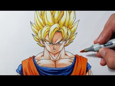 how to draw goku step by step for beginners