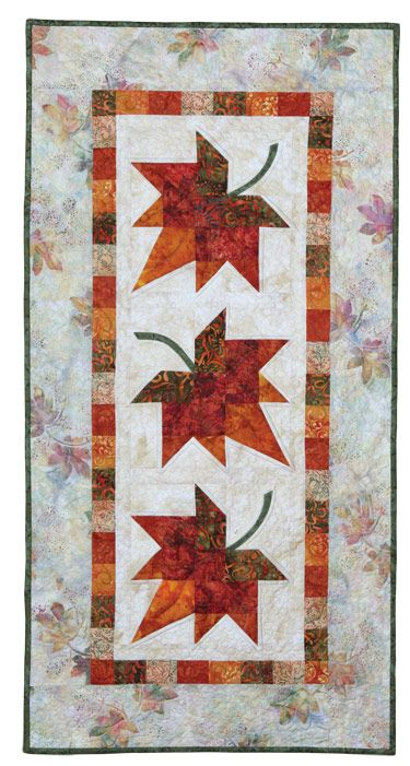thanksgiving quilt patterns   Autumn Leaves: Eleanor Signature Quilt Pattern - Quilt in a Day Books