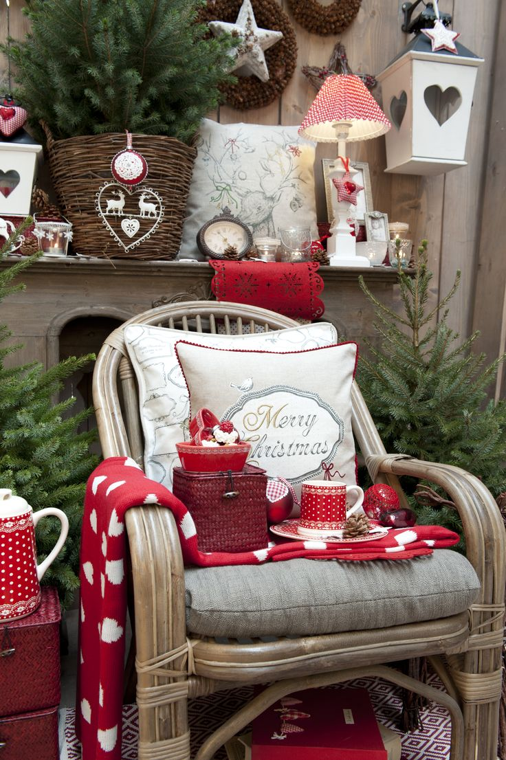 Merry Christmas | Christmas | Red | Love | Cushions | Plaid | Pillow | Fabric | Textile