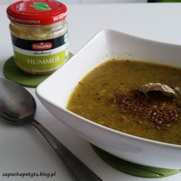 Broccoli soup with olive hummus #zapachapetytu #broccoli #soup #hummus #primavika