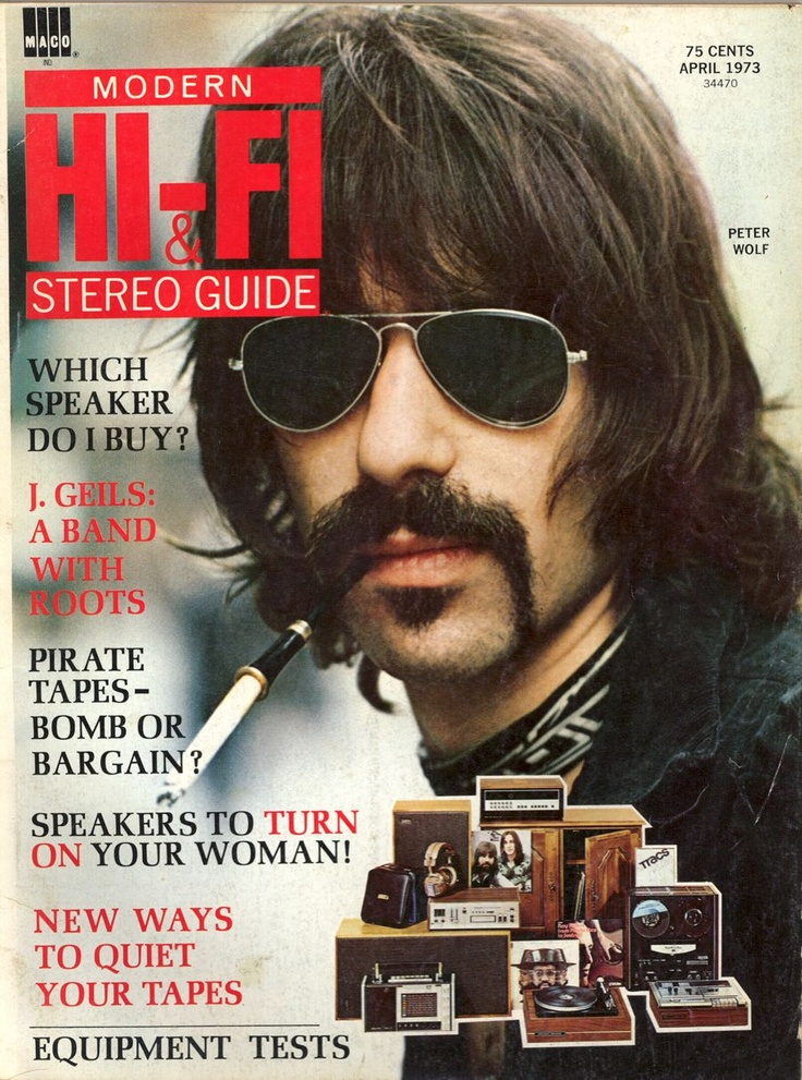 ~Peter Wolf (J. Geils Band) Magazine Cover 1973 ~*