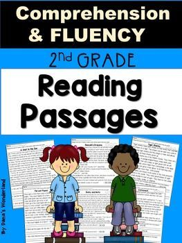 Second Grade Reading Comprehension and Fluency Passages:This resource contains 6 reading comprehension and fluency passages presented in 2 versions and followed by a True/ False sort.The students will have to: *read each text 3 times and color a star after each reading ( for fluency)*answer text based questions and color the evidence in the text ( in the first version) *write and answer their own questions about the important details in the text ( in the 2nd version)* Cut, sort, and paste…